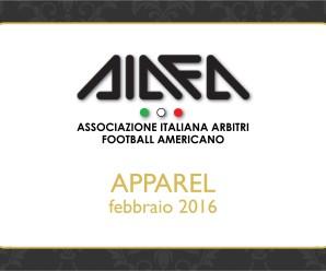 Abbigliamento AIAFA 2016