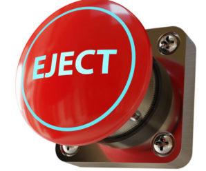 Il pulsante dell'espulsione automatica